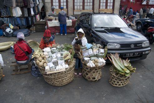 Op de markt in Antananarivo