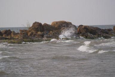 De wind een beetje zichtbaar gemaakt