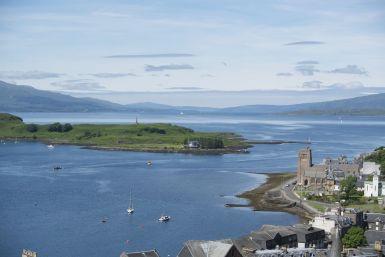 Mooi uitzicht vanaf McCaig's Tower