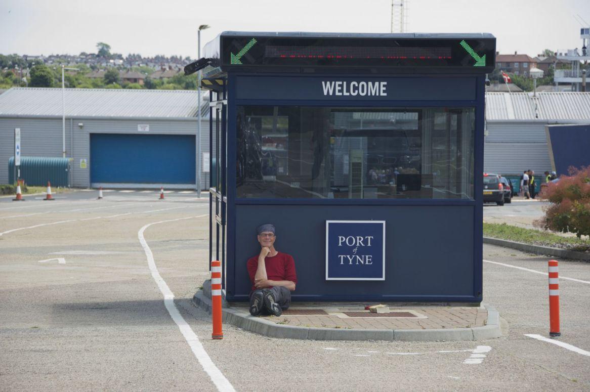 wachtend op de ferry
