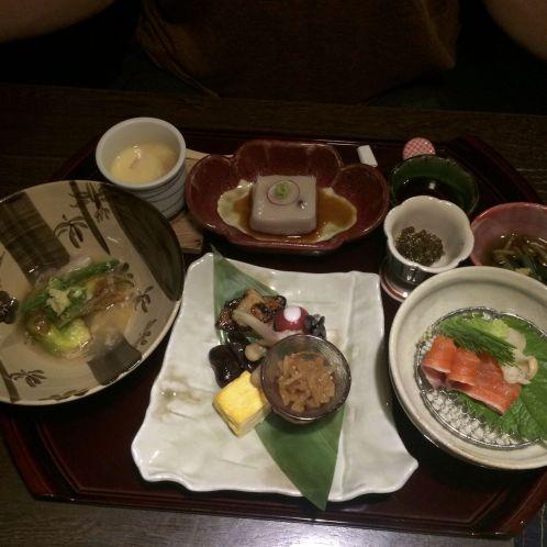 Maar een deel van Jurjan's uitgebreide maaltijd.