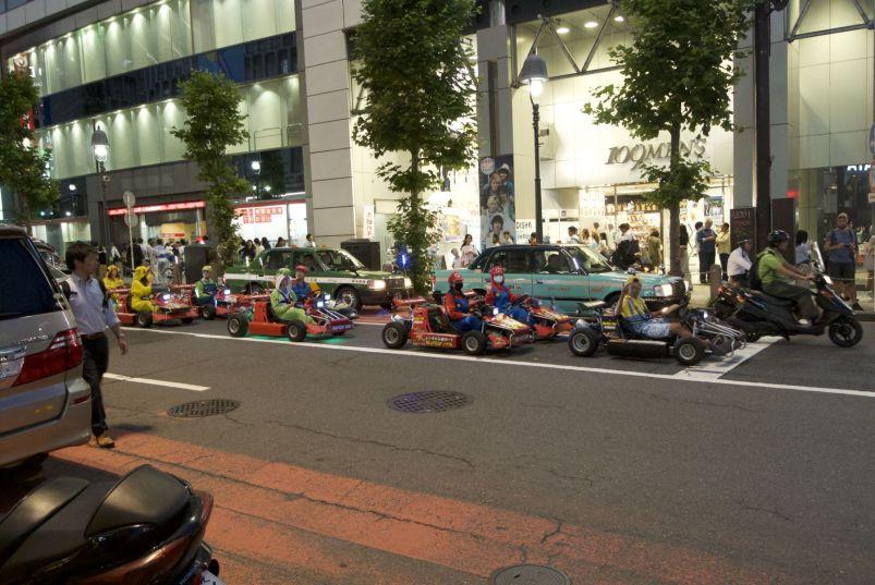 Real-life Mario Cart.