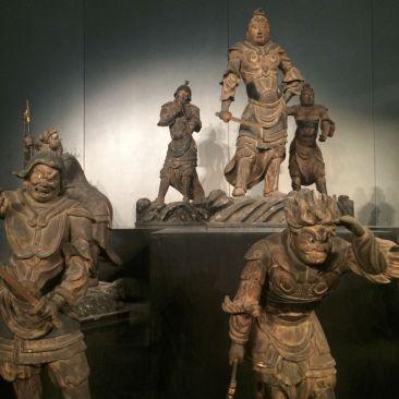 Het National museum staat vol met allerlei dingen uit de rijke culturele geschiedenis van Japan.
