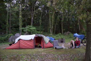 Prachtig groene camping, met douche!