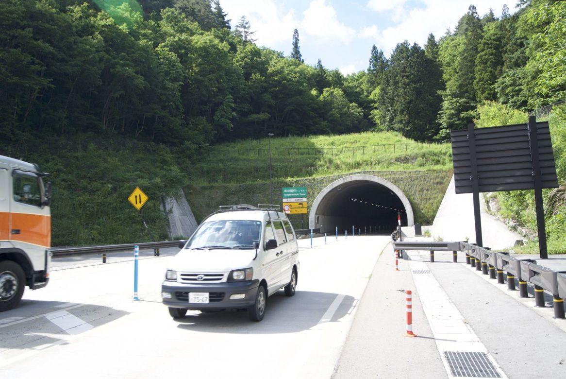 Vermijd de Takayamakokufu tunnel! Ruim 3km verschrikking!