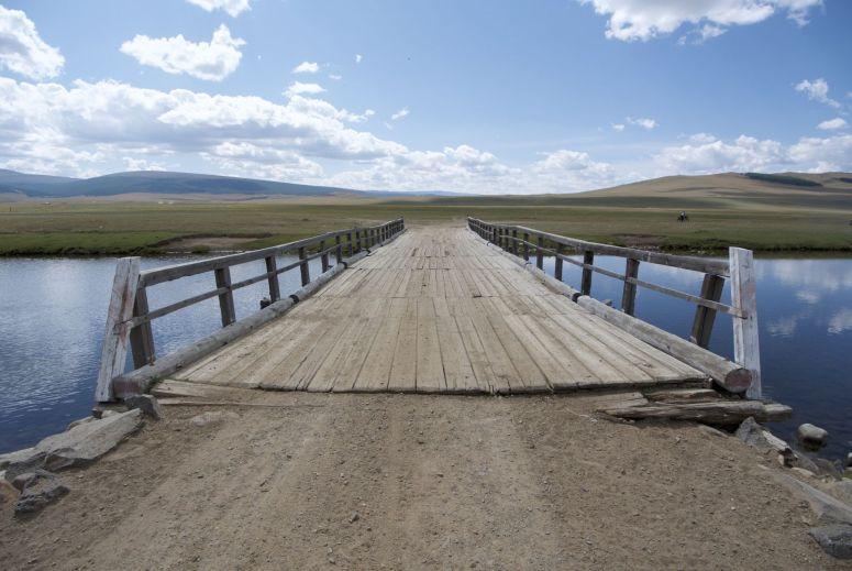 Wel erg blij met deze brug. De rivier is hier echt te breed en diep om anders over te steken.
