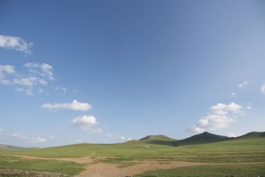 Het lijkt alsof ze meer lucht hebben in Mongolië.