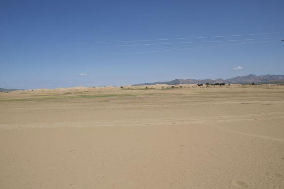 En dan oppeens lijk je midden in de woestijn te zitten.