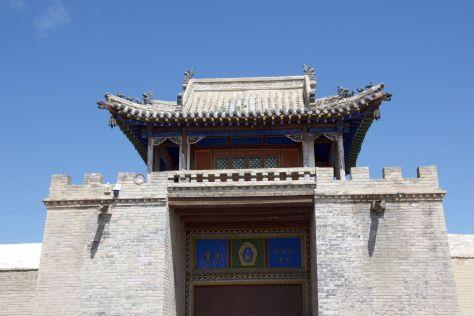 De poort Erdene Zuu in.