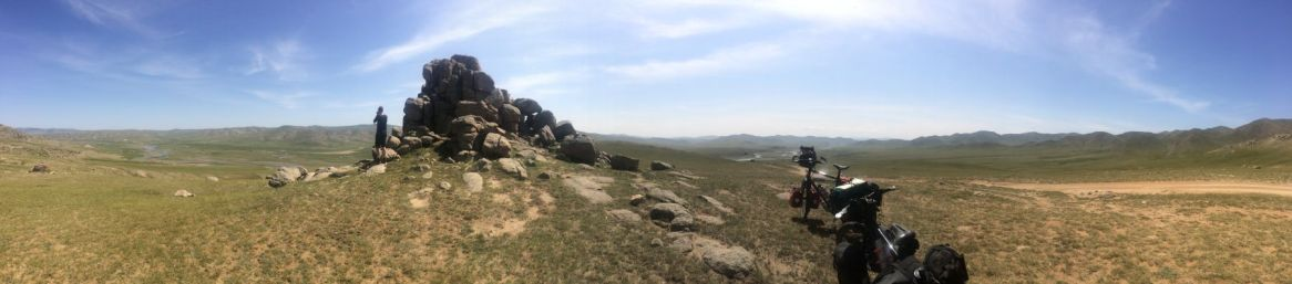 En mooie uitzichten vanaf de heuvel.