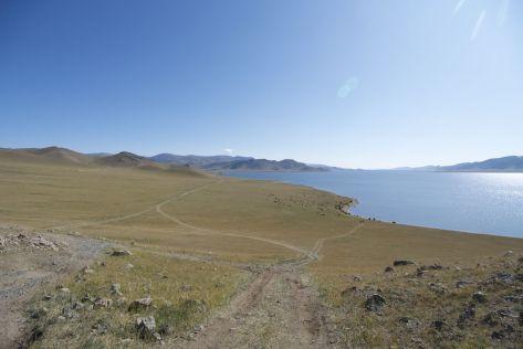 Maar dan heb je wel even een mooi uitzicht over het meer.
