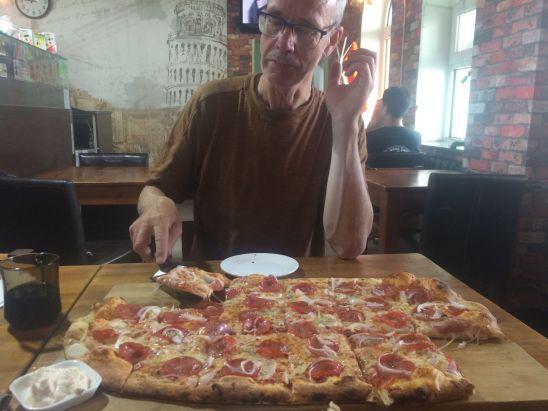 Dat was de grootste pizza die we ooit kochten.