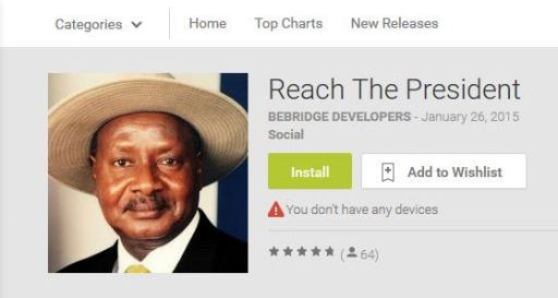 REACH THE PRESIDENT UGANDA