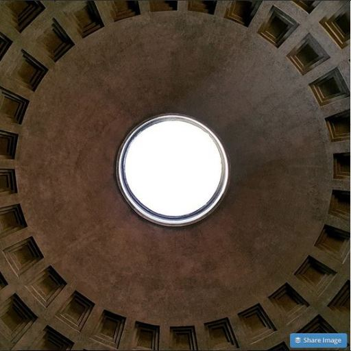 The Ceiling Of The Roman Pantheon JUUCHINI
