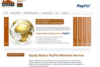 Equity Bank Partnership PayPal Money Funds Transfer Service JUUCHINI