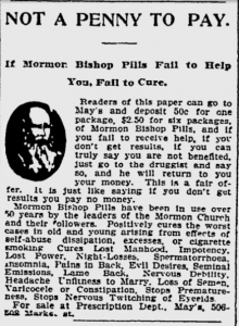 MormonBishopPills NotAPennyToPay PittsburghPress 1904May28Mon p12