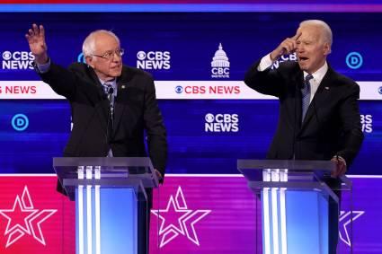 Sanders y Biden. Este duelo parece definitorio para las aspiraciones de ambos.