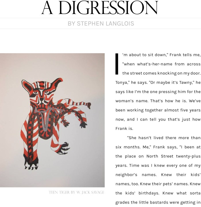 A Digression by Stephen Langlois