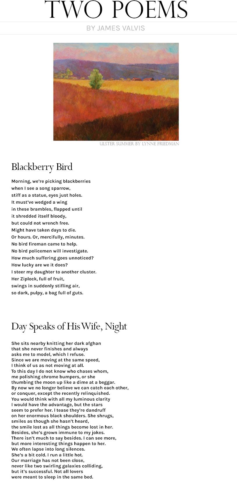 James Valvis Two Poems