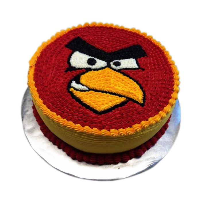 Incredible Angry Bird Cake With Yellow Border Juz4U Online Shopping Funny Birthday Cards Online Fluifree Goldxyz