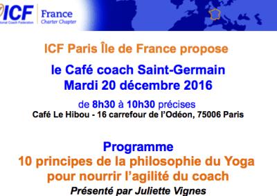 LE 20 DÉCEMBRE 2017 : CAFÉ COACH