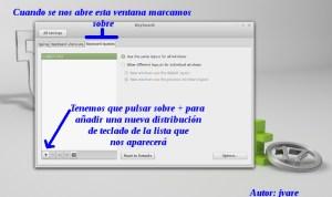 Añadir teclado en Linux Mint17