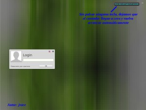 Pantalla login Mint17