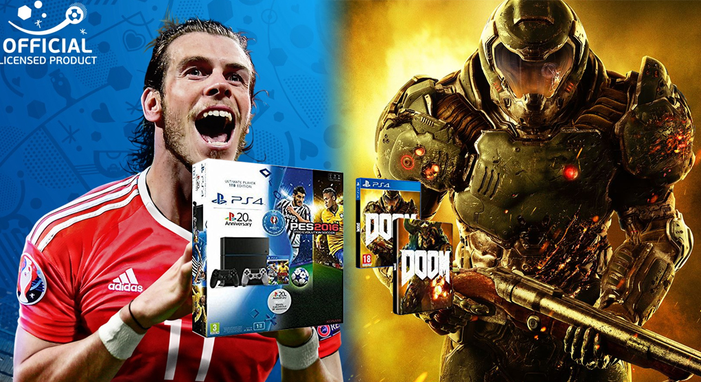 Bon Plan Pack PS4 1To PES Euro 2016 DOOM 2e