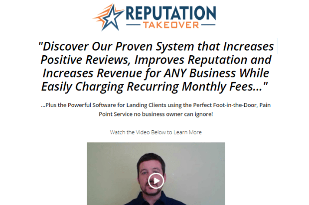 Reputation Takeover Consultant System by Valerie Duvall