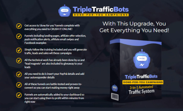 Triple Traffic Bots Gold Pro DFY Campaigns OTO