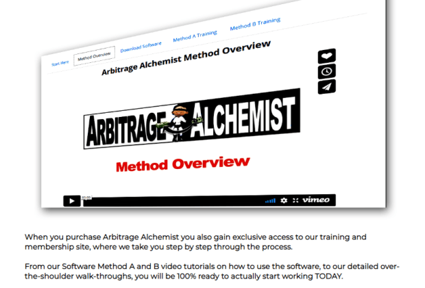 Arbitrage Alchemist Software WSO by Tom E