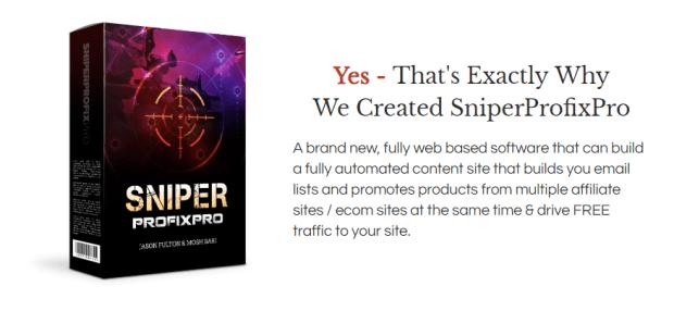 SniperProfiXpro Review & OTO Upsell by Mosh Bari