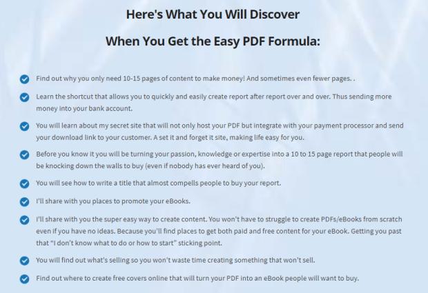 Easy PDF Formula & OTO Upsell by Linda Tremer