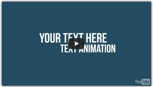 Jumbo Video Blowout V.3 Features - Module 5 : Minimalist Text Animations