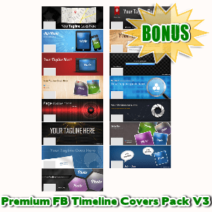 Female Mascot Maker Bonuses  - Premium FB Timeline Covers Pack V3