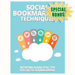 Special Bonuses - August 2015 - Social Bookmarking Techniques
