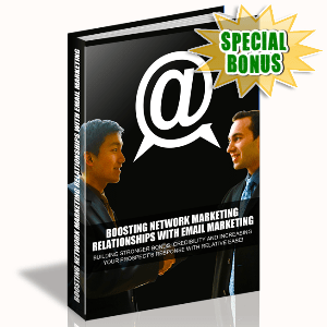 Special Bonuses - October 2015 - Boosting Network Marketing Relationships With Email Marketing