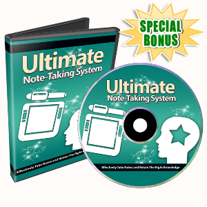 Special Bonuses - October 2015 - Ultimate Note Taking System Video Series