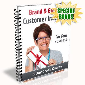 Special Bonuses - November 2015 - Brand & Grow With Customer Incentives