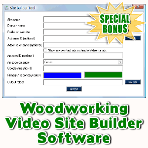Special Bonuses - January 2016 - Woodworking Video Site Builder Software