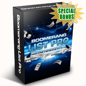 Special Bonuses - April 2016 - Boomerang List Pro Software