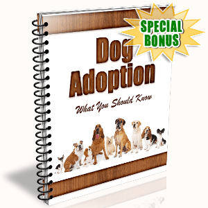 Special Bonuses - June 2016 - Dog Adoption Newsletter