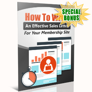 Special Bonuses - June 2016 - How To Write An Effective Sales Letter For Your Memberhsip Website
