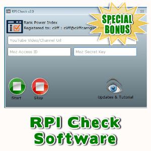 Special Bonuses - August 2016 - RPI Check Software
