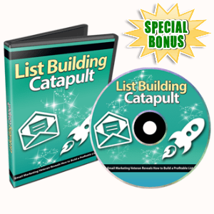 Special Bonuses - October 2016 - List Building Catapult Video Series Part 2