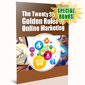 Special Bonuses - November 2016 - The 26 Golden Rules Of Online Marketing