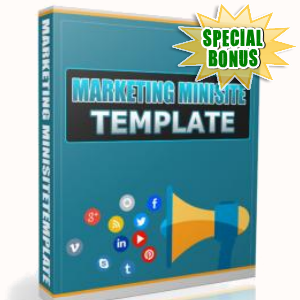 Special Bonuses - January 2017 - Marketing Minisite Template
