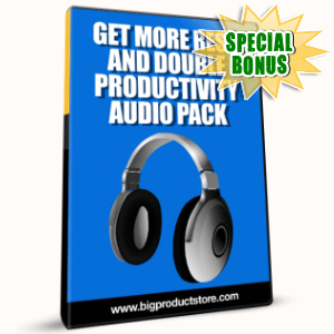 Special Bonuses - January 2017 - Get More Rest And Double Productivity Audio Pack
