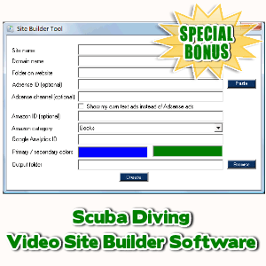 Special Bonuses - February 2017 - Scuba Diving Video Site Builder Software