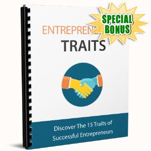 Special Bonuses - April 2017 - Entrepreneurial Traits